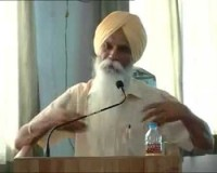 Sikh Scholar Ajmer Singh at Bangalore Seminar on Sikh issues & June 1984