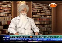TV 84 Interview with with Ajmer Singh (Sikh Historian & Author) on Post 1984 Holocaust Sikh Struggle